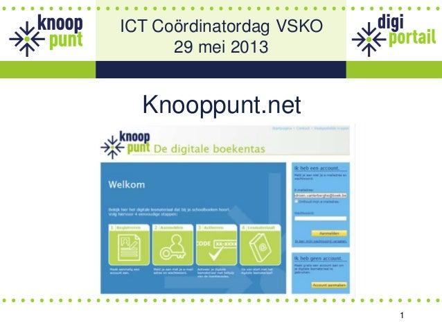 1Knooppunt.netICT Coördinatordag VSKO29 mei 2013