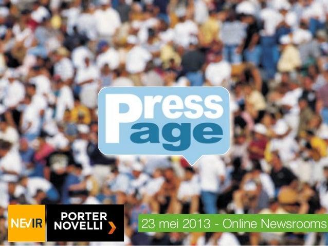NEVIR Kennissessie social newsrooms 23-05-2013 (Nederlands)