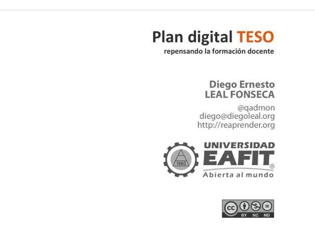 Plan digital TESO: repensando la formación docente en uso de TIC