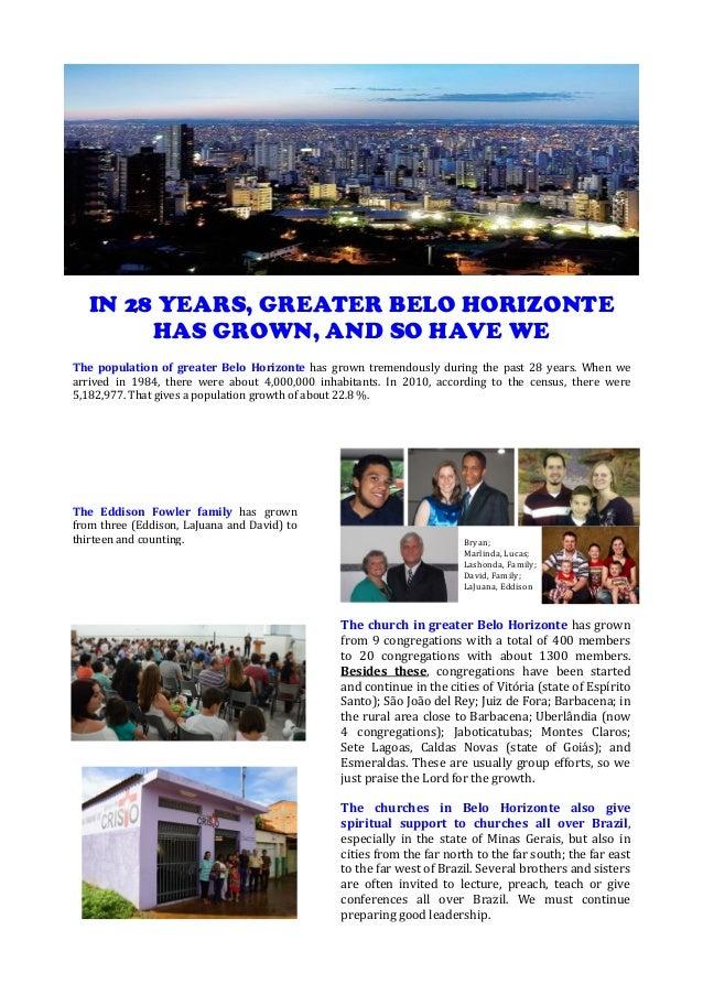 Eddison and LaJuana Fowler, Belo Horizonte, Brazil 2013 06 04 mission fund raising letter
