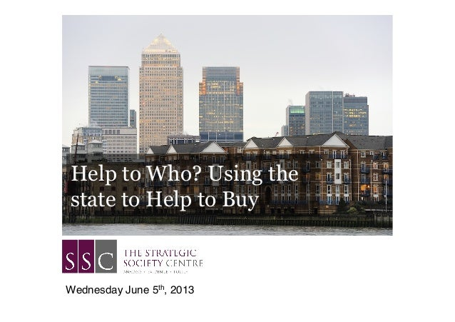 Help to Who? Using thestate to Help to BuyWednesday June 5th, 2013!