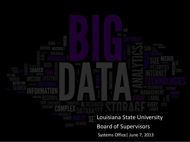 Louisiana State University Board of Supervisors Systems Office| June 7, 2013
