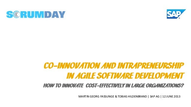 Scrum Day 2013 - Co-Innovation and Intrapreneurship