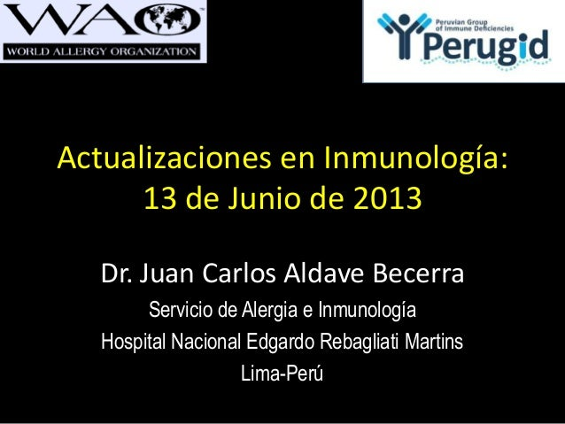 20130613 - Actualización en Inmunología
