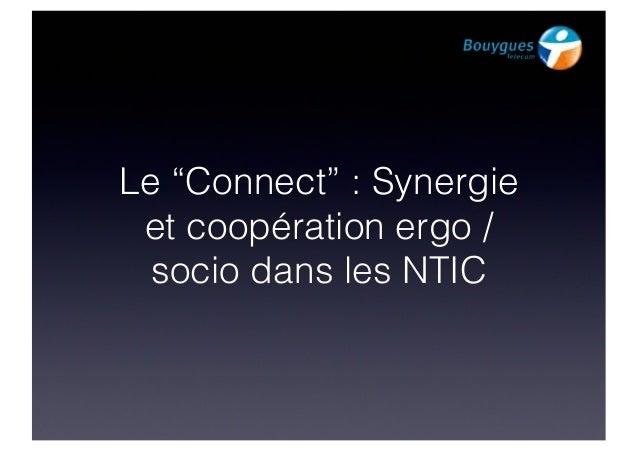 """FLUPA UX-Day 2013 : Adrien  Pitrat & Céline Grousseau """"Synergie et coopération entre sociologues et ergonomes sur des projets relatifs aux NTIC"""""""