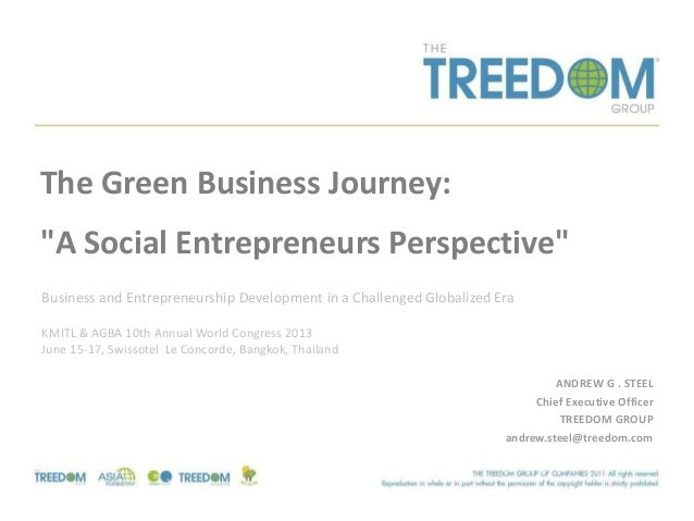 "ANDREW G . STEELChief Executive OfficerTREEDOM GROUPandrew.steel@treedom.comThe Green Business Journey:""A Social Entrepren..."