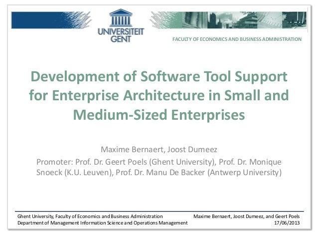 CAiSE BUSITAL Presentation (Valencia): Software Tool Development for Enterprise Architecture in Small and Medium-Sized Enterprises