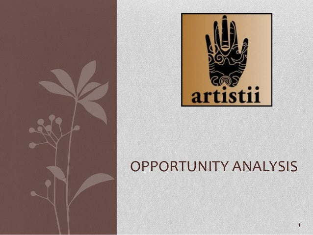 20130616   artistii reloaded opportunity analysis