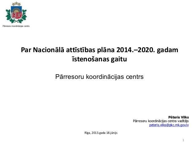 NAP2020 īstenošanas gaita