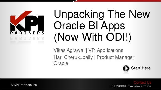 Unpacking The New Oracle BI Apps (Now With ODI!)