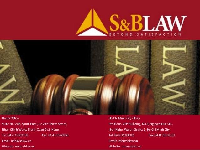 Lawfirm in VietNam S&B Law