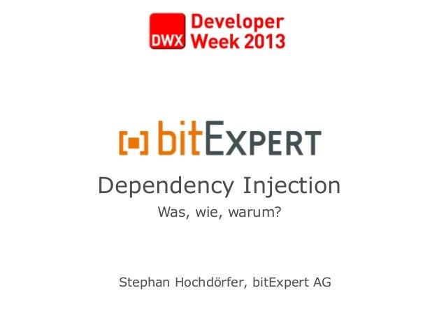 Dependency InjectionWas, wie, warum?Stephan Hochdörfer, bitExpert AG