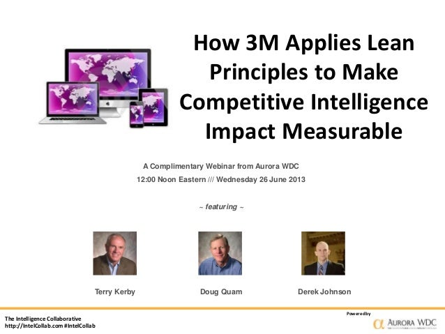 How 3M Applies Lean Principles to Make Competitive Intelligence Impact Measurable