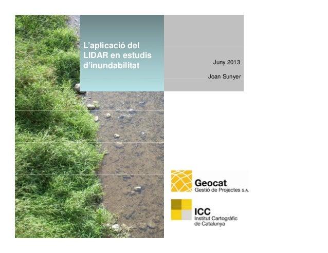 L'aplicació del LiDAR en estudis d'inundabilitat