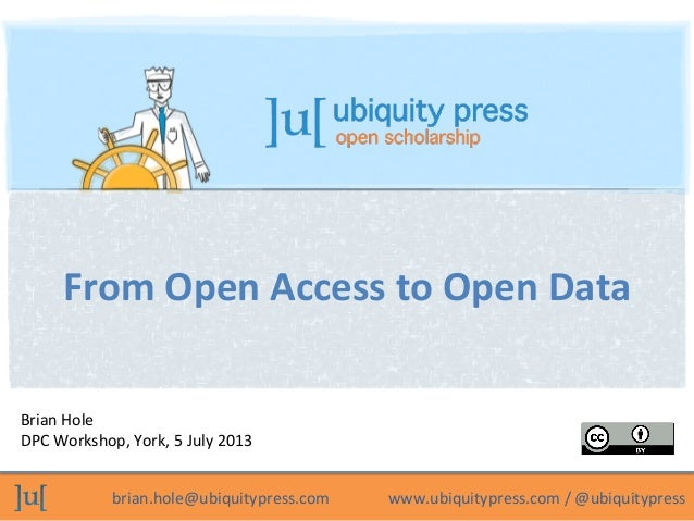 From Open Access to Open Data