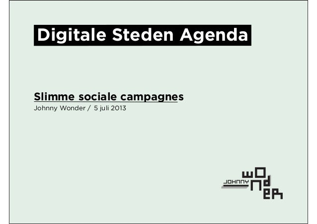 Campagne en online strategie digitale steden agenda