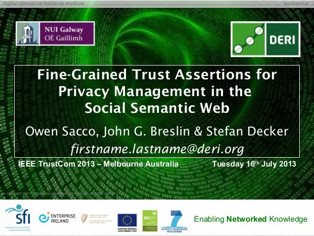 Fine-Grained Trust Assertions for Privacy Management in the Social Semantic Web