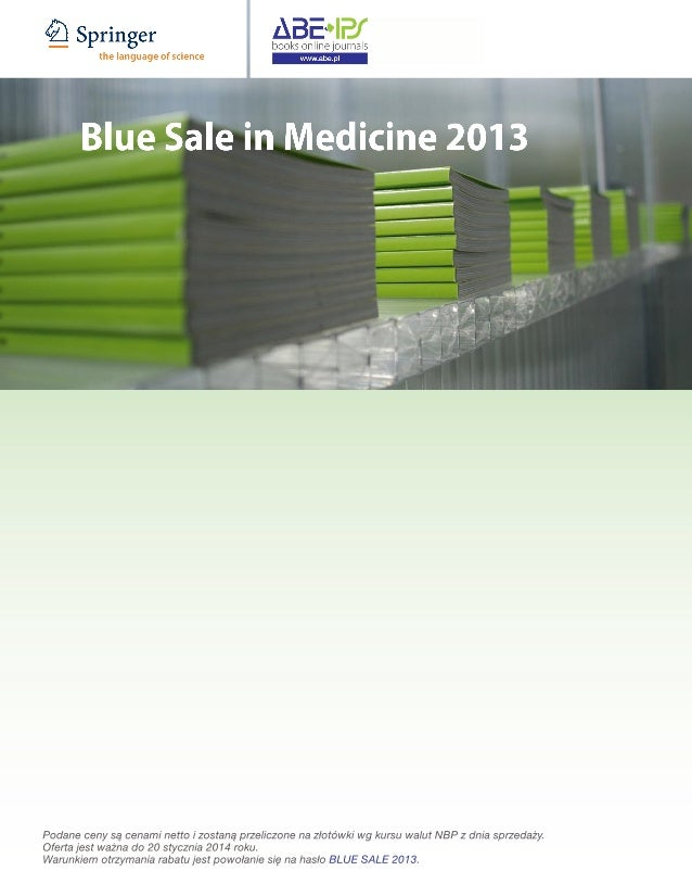 Springer's Blue Sale in Medicine