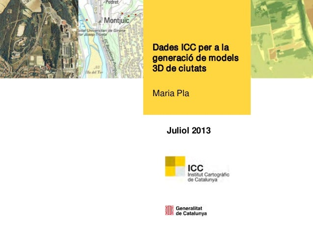 Dades de l'ICC per a la generació de models 3D de ciutats