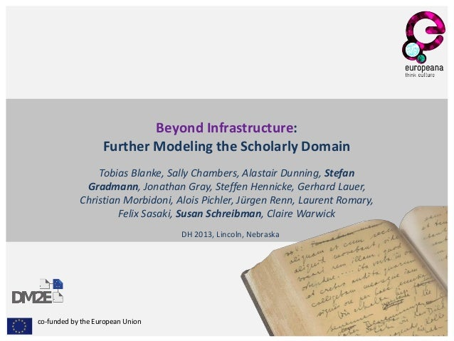 co-funded by the European Union Beyond Infrastructure: Further Modeling the Scholarly Domain Tobias Blanke, Sally Chambers...