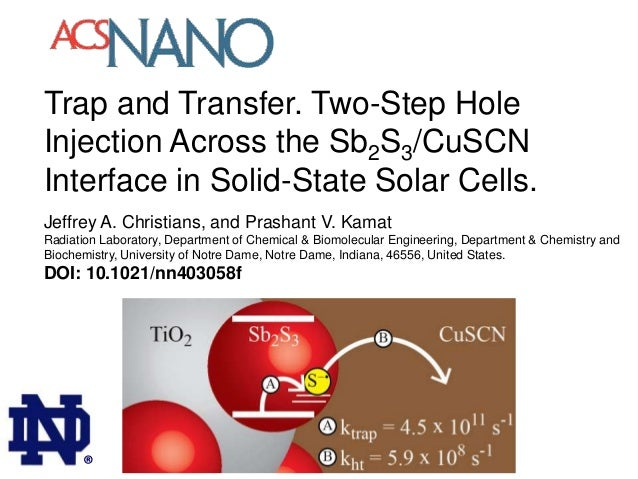 Trap and Transfer. Two-Step Hole Injection Across the Sb2S3/CuSCN Interface in Solid-State Solar Cells. Jeffrey A. Christi...