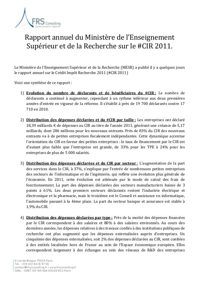 exemple note de synthese rapport