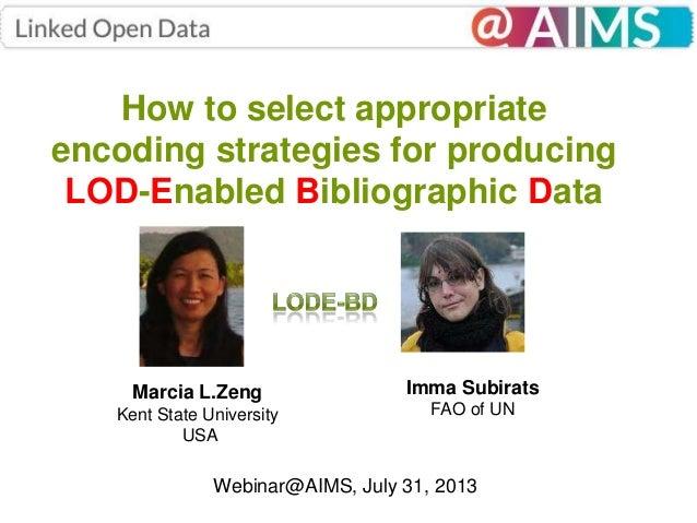 Webinar@AIMS: LODE-BD