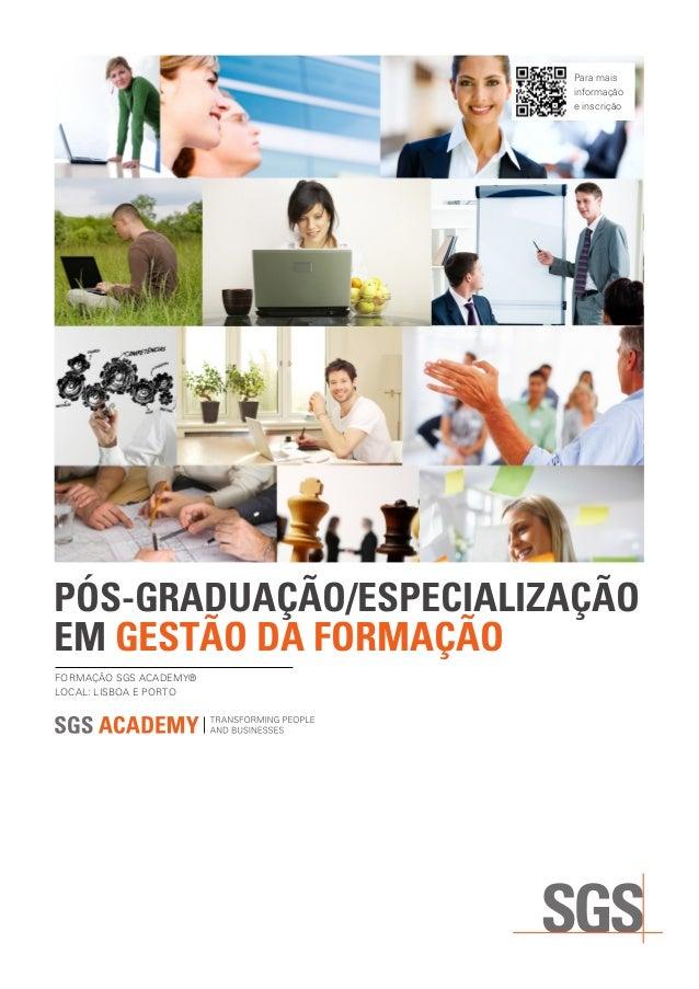 SGS Academy PG Gestão da Formação