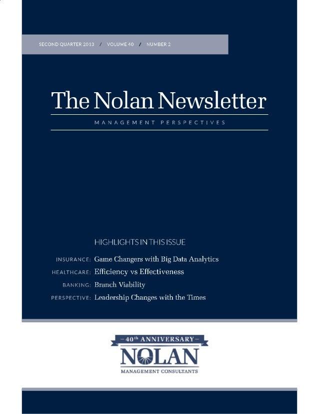 201307 Nolan QNL: Game-Changers - Big Data Analytics