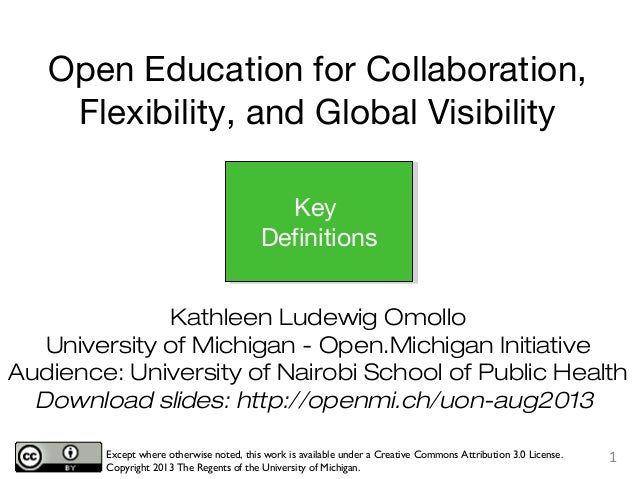 UON SPH OER Workshop - Definitions
