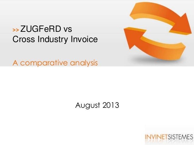 Comparing ZuGFeRD Syntax with Cross Industry Invoice v2