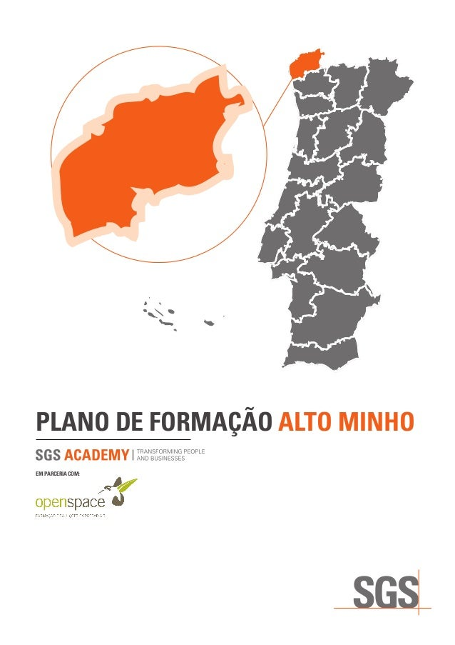 PLANO DE FORMAÇÃO ALTO MINHO EM PARCERIA COM:
