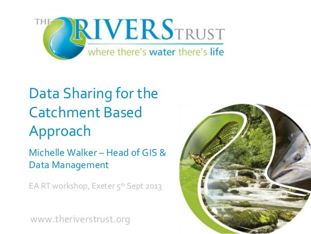 Data Sharing for the Catchment Based Approach Michelle Walker – Head of GIS & Data Management EA RT workshop, Exeter 5th S...