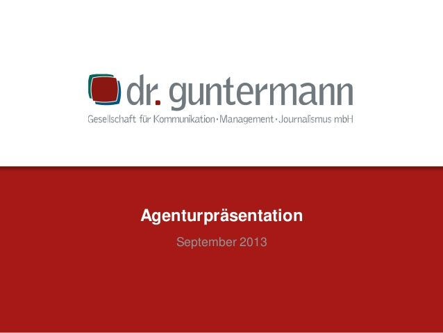 Agenturpräsentation September 2013