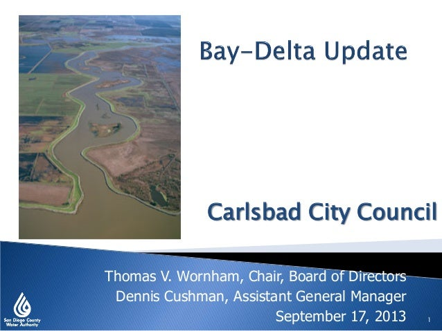 Bay-Delta Update - Carlsbad City Council, Sept. 17, 2013