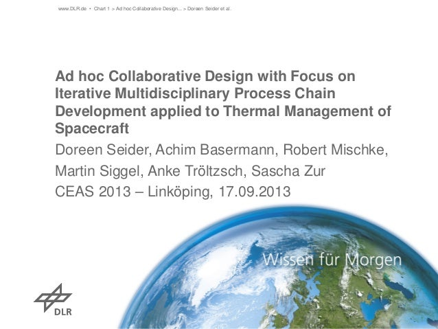 www.DLR.de • Chart 1 > Ad hoc Collaborative Design... > Doreen Seider et al.  Ad hoc Collaborative Design with Focus on It...