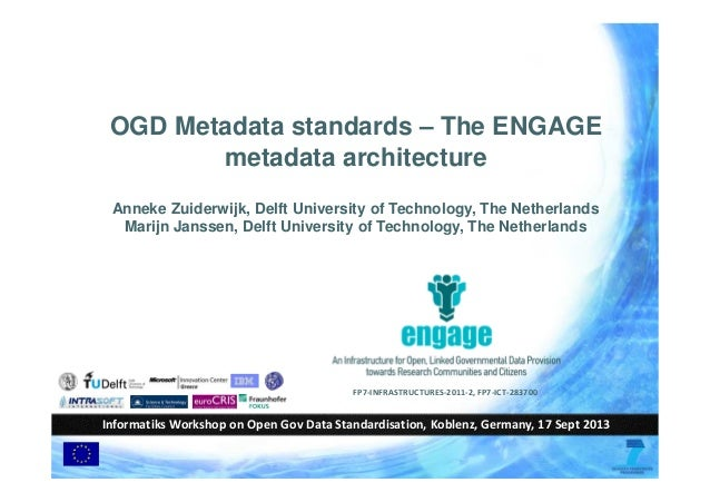 OGD Metadata standards – The ENGAGE metadata architecture