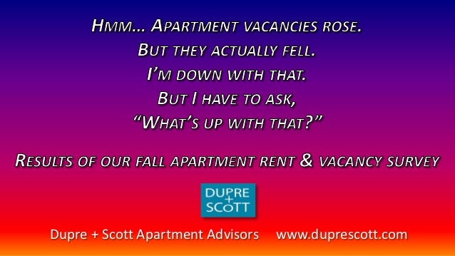 Apartment rent and vacancy trends