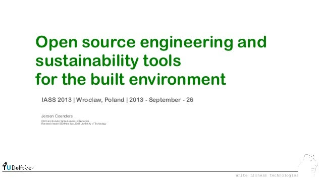 Open source engineering and sustainability tools for the built environment