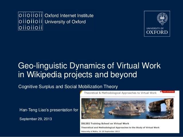 201309 geo-linguistic dynamics virtual work liao IS1202 Malta