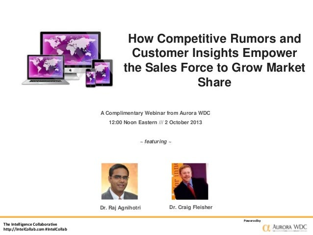 How Competitive Rumors and Customer Insights Empower the Sales Force to Grow Market Share A Complimentary Webinar from Aur...