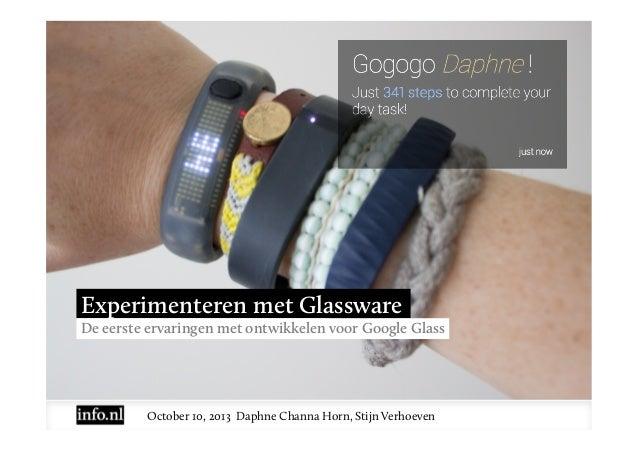 eDay 2013 - Experimenteren met Glass