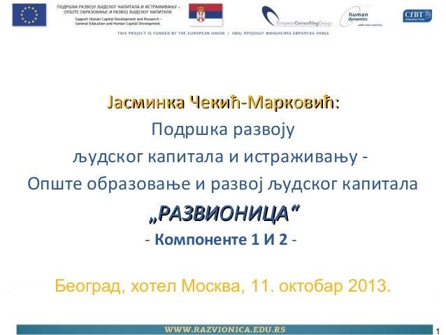 Развионица, компоненте 1 и 2 - Ј. Марковић