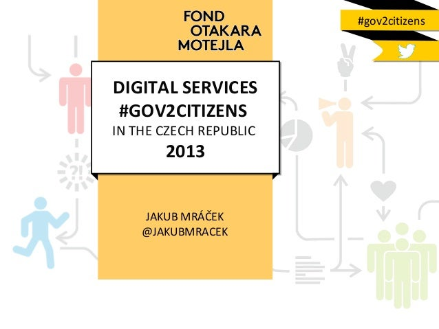 #gov2citizens  DIGITAL SERVICES #GOV2CITIZENS  IN THE CZECH REPUBLIC  2013  JAKUB MRÁČEK @JAKUBMRACEK
