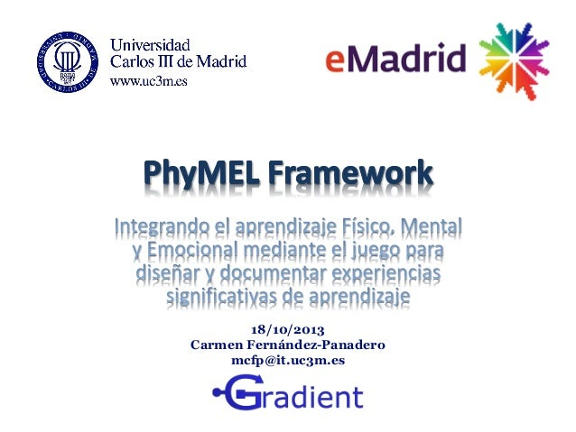 18/10/2013 Carmen Fernández-Panadero mcfp@it.uc3m.es