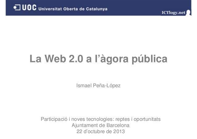 La Web 2.0 a l'àgora pública