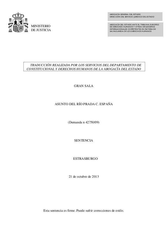ABOGACÍA GENERAL DEL ESTADO DIRECCIÓN DEL SERVICIO JURÍDICO DEL ESTADO  ABOGACÍA DEL ESTADO ANTE EL TRIBUNAL EUROPEO DE DE...