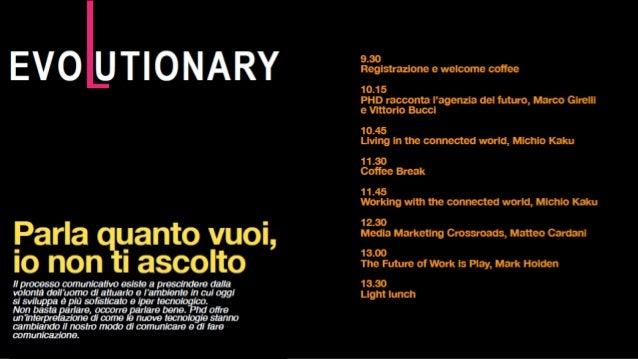 Evolutionary by Phd: il futuro della (Social) TV