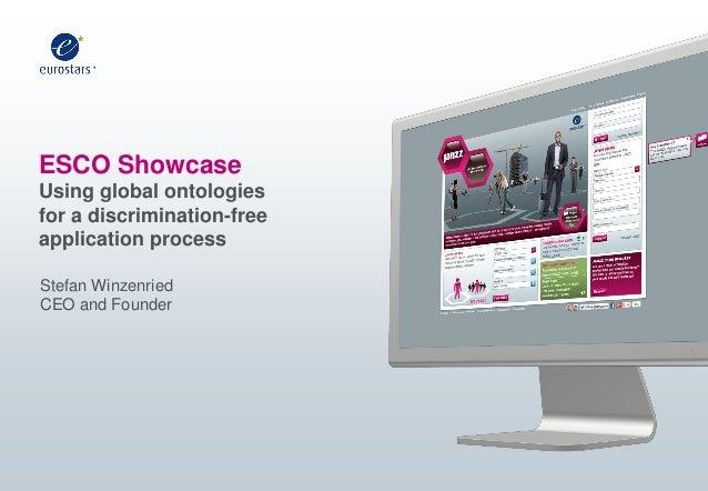 ESCO Showcase Using global ontologies for a discrimination-free application process