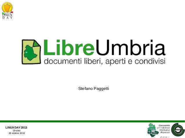 Linux Day 2013 - LibreUmbria